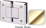 Brass Sis 785 Series Beveled with Round Edges 180 Degree Glass-To-Glass Hinge - SI785A_BR
