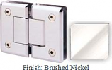 Brushed Nickel Sis 785 Series Beveled with Round Edges 180 Degree Glass-To-Glass Hinge - SI785A_BN