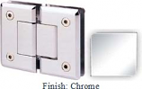 Chrome Sis 785 Series Beveled with Round Edges 180 Degree Glass-To-Glass Hinge - SI785A_CR