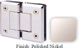 Polished Nickel Sis 785 Series Beveled with Round Edges 180 Degree Glass-To-Glass Hinge - SI785A_PN