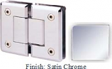 Satin Chrome Sis 785 Series Beveled with Round Edges 180 Degree Glass-To-Glass Hinge - SI785A_SCR