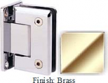 Brass Sis 785 Series Beveled with Round Edges Wall Mount Full Back Plate Hinge - SI785B_BR