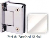 Brushed Nickel Sis 785 Series Beveled with Round Edges Wall Mount Full Back Plate Hinge - SI785B_BN