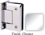 Chrome Sis 785 Series Beveled with Round Edges Wall Mount Full Back Plate Hinge - SI785B_CR