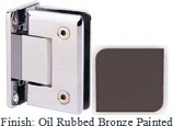 Oil Rubbed Bronze Painted Sis 785 Series Beveled with Round Edges Wall Mount Full Back Plate Hinge - SI785B_ORB