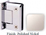 Polished Nickel Sis 785 Series Beveled with Round Edges Wall Mount Full Back Plate Hinge - SI785B_PN