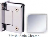 Satin Chrome Sis 785 Series Beveled with Round Edges Wall Mount Full Back Plate Hinge - SI785B_SCR