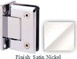 Satin Nickel Sis 785 Series Beveled with Round Edges Wall Mount Full Back Plate Hinge - SI785B_SN