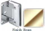 Brass Sis 785 Series Beveled with Round Edges Wall Mount Offset Full Back Plate Hinge - SI785B-2_BR