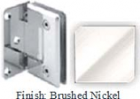 Brushed Nickel Sis 785 Series Beveled with Round Edges Wall Mount Offset Full Back Plate Hinge - SI785B-2_BN