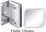 Chrome Sis 785 Series Beveled with Round Edges Wall Mount Offset Full Back Plate Hinge - SI785B-2_CR
