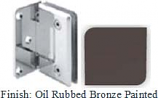 Oil Rubbed Bronze Painted Sis 785 Series Beveled with Round Edges Wall Mount Offset Full Back Plate Hinge - SI785B-2_ORB