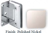 Polished Nickel Sis 785 Series Beveled with Round Edges Wall Mount Offset Full Back Plate Hinge - SI785B-2_PN