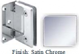 Satin Chrome Sis 785 Series Beveled with Round Edges Wall Mount Offset Full Back Plate Hinge - SI785B-2_SCR
