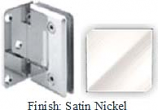 Satin Nickel Sis 785 Series Beveled with Round Edges Wall Mount Offset Full Back Plate Hinge - SI785B-2_SN
