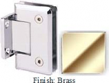 Brass Sis 785 Series Beveled with Round Edges Wall Mount Short Back Plate Hinge - SI785C_BR