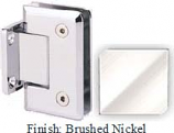 Brushed Nickel Sis 785 Series Beveled with Round Edges Wall Mount Short Back Plate Hinge - SI785C_BN