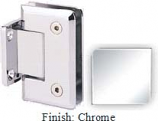 Chrome Sis 785 Series Beveled with Round Edges Wall Mount Short Back Plate Hinge - SI785C_CR