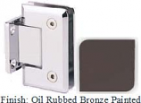 Oil Rubbed Bronze Painted Sis 785 Series Beveled with Round Edges Wall Mount Short Back Plate Hinge - SI785C_ORB
