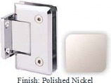 Polished Nickel Sis 785 Series Beveled with Round Edges Wall Mount Short Back Plate Hinge - SI785C_PN
