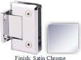Satin Chrome Sis 785 Series Beveled with Round Edges Wall Mount Short Back Plate Hinge - SI785C_SCR
