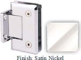 Satin Nickel Sis 785 Series Beveled with Round Edges Wall Mount Short Back Plate Hinge - SI785C_SN