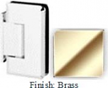 Brass Sis 785 Series Beveled with Round Edges Wall Mount Offset Short Back Plate Hinge - SI785C-2_BR