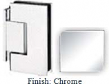 Chrome Sis 785 Series Beveled with Round Edges Wall Mount Offset Short Back Plate Hinge - SI785C-2_CR