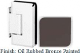 Oil Rubbed Bronze Painted Sis 785 Series Beveled with Round Edges Wall Mount Offset Short Back Plate Hinge - SI785C-2_ORB