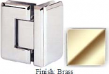 Brass Sis 785 Series Beveled with Round Edges 90 Degree Glass-To-Glass Hinge - SI785D_BR