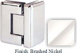 Brushed Nickel Sis 785 Series Beveled with Round Edges 90 Degree Glass-To-Glass Hinge - SI785D_BN