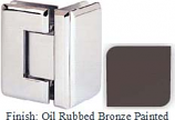 Oil Rubbed Bronze Painted Sis 785 Series Beveled with Round Edges 90 Degree Glass-To-Glass Hinge - SI785D_ORB