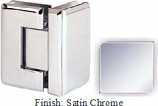 Satin Nickel Sis 785 Series Beveled with Round Edges 90 Degree Glass-To-Glass Hinge - SI785D_SN