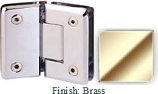 Brass Sis 785 Series Beveled with Round Edges 135 Degree Glass-To-Glass Hinge - SI785E_BR