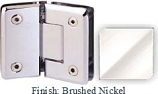 Brushed Nickel Sis 785 Series Beveled with Round Edges 135 Degree Glass-To-Glass Hinge - SI785E_BN