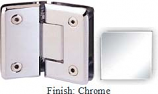 Chrome Sis 785 Series Beveled with Round Edges 135 Degree Glass-To-Glass Hinge - SI785E_CR