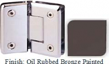 Oil Rubbed Bronze Painted Sis 785 Series Beveled with Round Edges 135 Degree Glass-To-Glass Hinge - SI785E_ORB