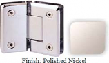 Polished Nickel Sis 785 Series Beveled with Round Edges 135 Degree Glass-To-Glass Hinge - SI785E_PN