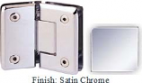 Satin Chrome Sis 785 Series Beveled with Round Edges 135 Degree Glass-To-Glass Hinge - SI785E_SCR