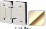 Brass Sis 787 Series with Square Edges 180 Degree Glass-To-Glass Hinge - SI787A_BR