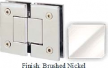Brushed Nickel Sis 787 Series with Square Edges 180 Degree Glass-To-Glass Hinge - SI787A_BN