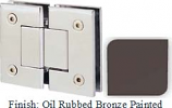 Oil Rubbed Bronze Painted Sis 787 Series with Square Edges 180 Degree Glass-To-Glass Hinge - SI787A_ORB