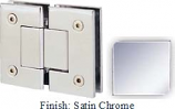 Satin Chrome Sis 787 Series with Square Edges 180 Degree Glass-To-Glass Hinge - SI787A_SCR