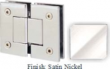 Satin Nickel Sis 787 Series with Square Edges 180 Degree Glass-To-Glass Hinge - SI787A_SN