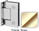 Brass Sis 787 Series with Square Edges Wall Mount Full Back Plate Hinge - SI787B_BR