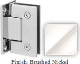 Brushed Nickel Sis 787 Series with Square Edges Wall Mount Full Back Plate Hinge - SI787B_BN