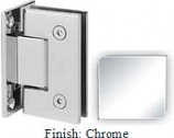 Chrome Sis 787 Series with Square Edges Wall Mount Full Back Plate Hinge - SI787B_CR