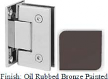 Oil Rubbed Bronze Painted Sis 787 Series with Square Edges Wall Mount Full Back Plate Hinge - SI787B_ORB