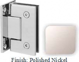 Polished Nickel Sis 787 Series with Square Edges Wall Mount Full Back Plate Hinge - SI787B_PN