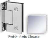 Satin Chrome Sis 787 Series with Square Edges Wall Mount Full Back Plate Hinge - SI787B_SCR